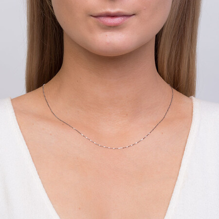 "45cm (18"") Box Chain in 10kt White Gold"