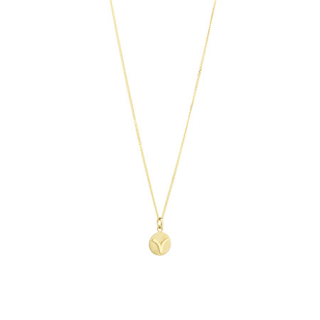 Aries Zodiac Pendant in 10kt yellow Gold