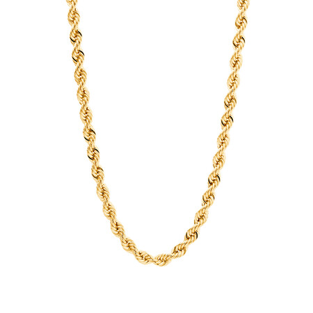 """55cm (22"""") Rope Chain in 10kt Yellow Gold"""