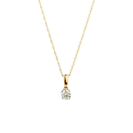 Pendant with 0.30 Carat TW of Diamonds in 10kt Yellow Gold