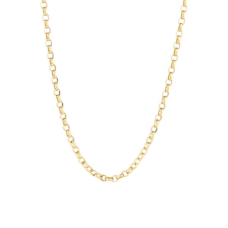 "45cm (18"") Diamond Cut Rolo Chain in 18kt Yellow Gold"