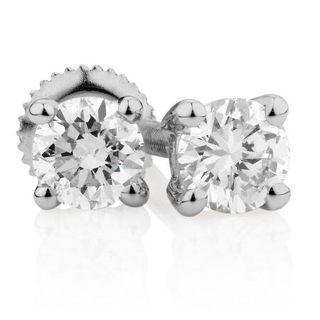 Certified Stud Earrings with 0.23 Carat TW of Diamonds in 14kt White Gold