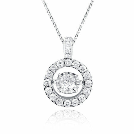 Everlight Pendant with 1 1/2 Carat TW of Diamonds in 14kt White Gold