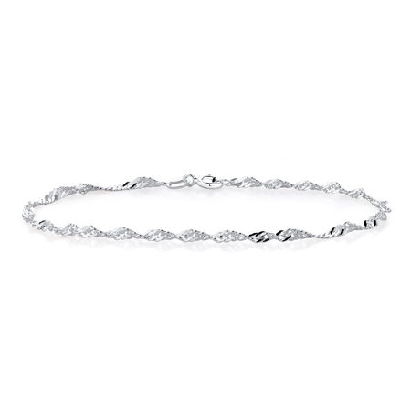 "19cm (7.5"") Singapore Bracelet in Sterling Silver"