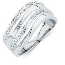 Ring with 0.20 Carat TW of Diamonds in Sterling Silver