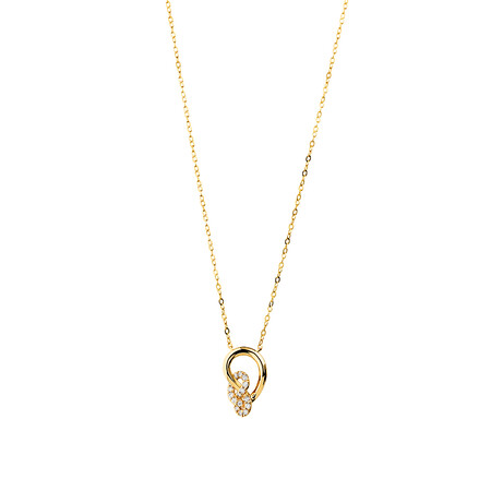 Mini Knots Necklace with 0.12 Carat TW of Diamonds in 10kt Yellow Gold