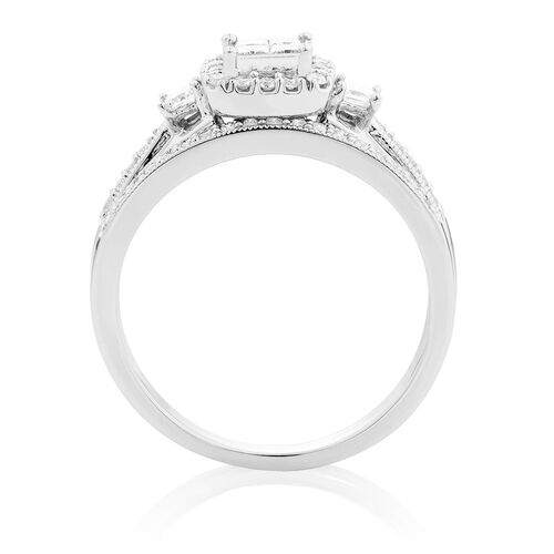Bridal Set with 1/2 Carat TW of Diamonds in 10kt White Gold