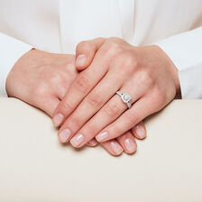 Engagement Ring with 0.57 Carat TW of Diamonds in 14kt White Gold