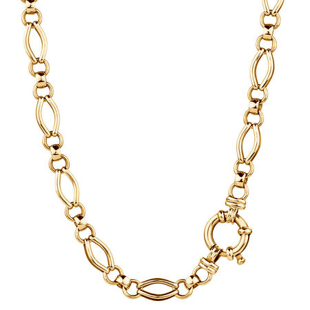 """45cm (18"""") Hollow Chain in 10kt Yellow Gold"""