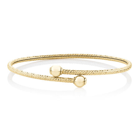 Hollow Bangle in 10kt Yellow Gold