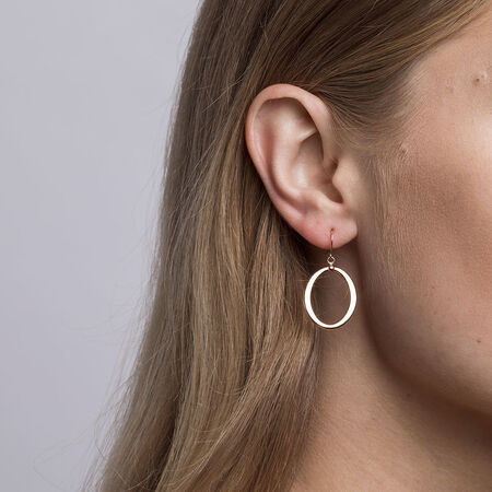 Hoop Earrings in 10kt Rose Gold