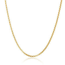 "50cm (20"") Hollow Rolo Chain in 10kt Yellow Gold"