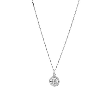 Libra Zodiac Pendant in Sterling Silver