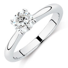 Northern Radiance Solitaire Engagement Ring with a 0.70 Carat TW Certified Canadian Diamond in 14kt White Gold