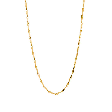 """45cm (18"""") Infinity Chain in 10kt Yellow Gold"""