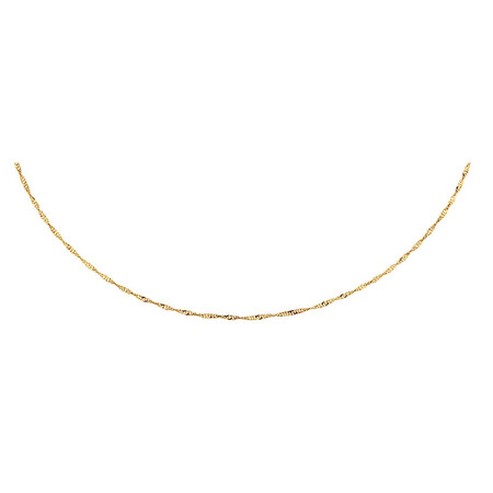 "40cm (16"") Hollow Singapore Chain in 10kt Yellow Gold"