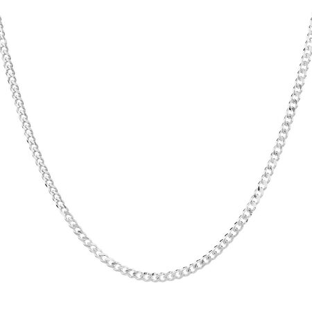 "50cm (20"") Curb Chain in 925 Sterling Silver"