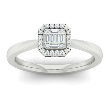 Cluster Ring with 0.15 Carat TW of Diamonds in 10kt White Gold