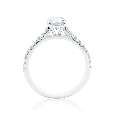 Engagement Ring with 1 1/4 Carat TW of Diamonds in 14kt White Gold