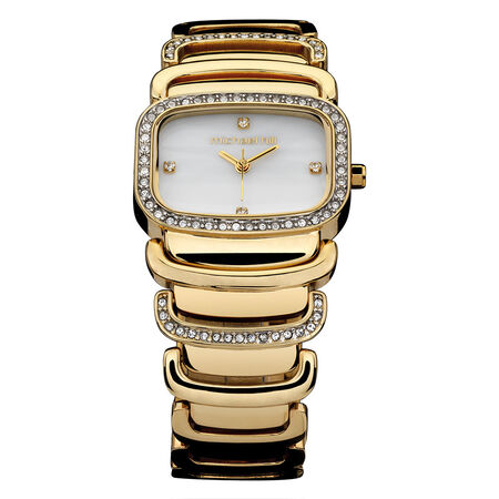 Ladies Watch with Crystals in Gold Tone Stainless Steel