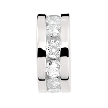 Cubic Zirconia & Sterling Silver Panel Charm