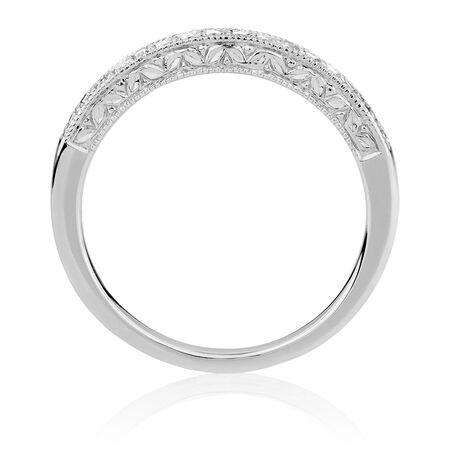 Wedding Band with 0.16 Carat TW of Diamonds in 14kt White Gold