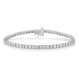 Tennis Bracelet with 4 Carat TW of Diamonds in 10kt White Gold