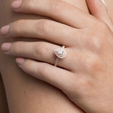 Sir Michael Hill Designer GrandArpeggio Engagement Ring with 0.87 Carat TW of Diamonds in 14kt Rose Gold