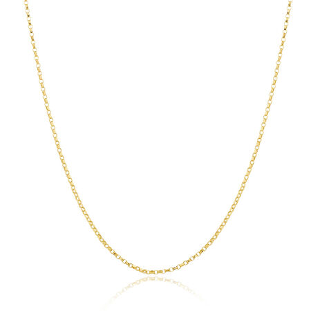 """40cm (16"""") Rolo Chain in 10kt Yellow Gold"""