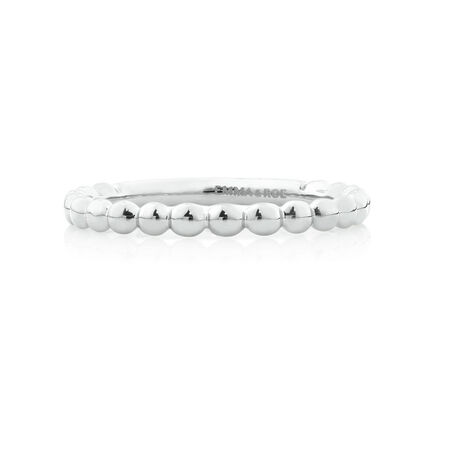 Bubble Stacker Ring in 10kt White Gold