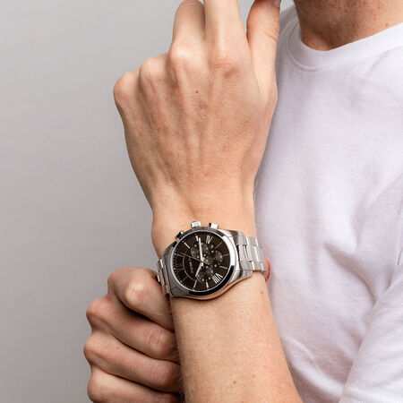 Men's Chronograph Watch in Stainless Steel