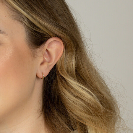 Mini Hoop Earrings in 10kt Yellow Gold