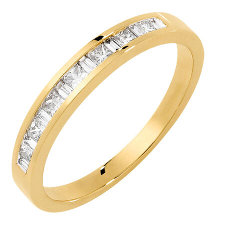 Wedding Band with 0.33 Carat TW of Diamonds in 18kt Yellow Gold