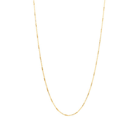 """45cm (18"""") Chain in 10kt Yellow Gold"""