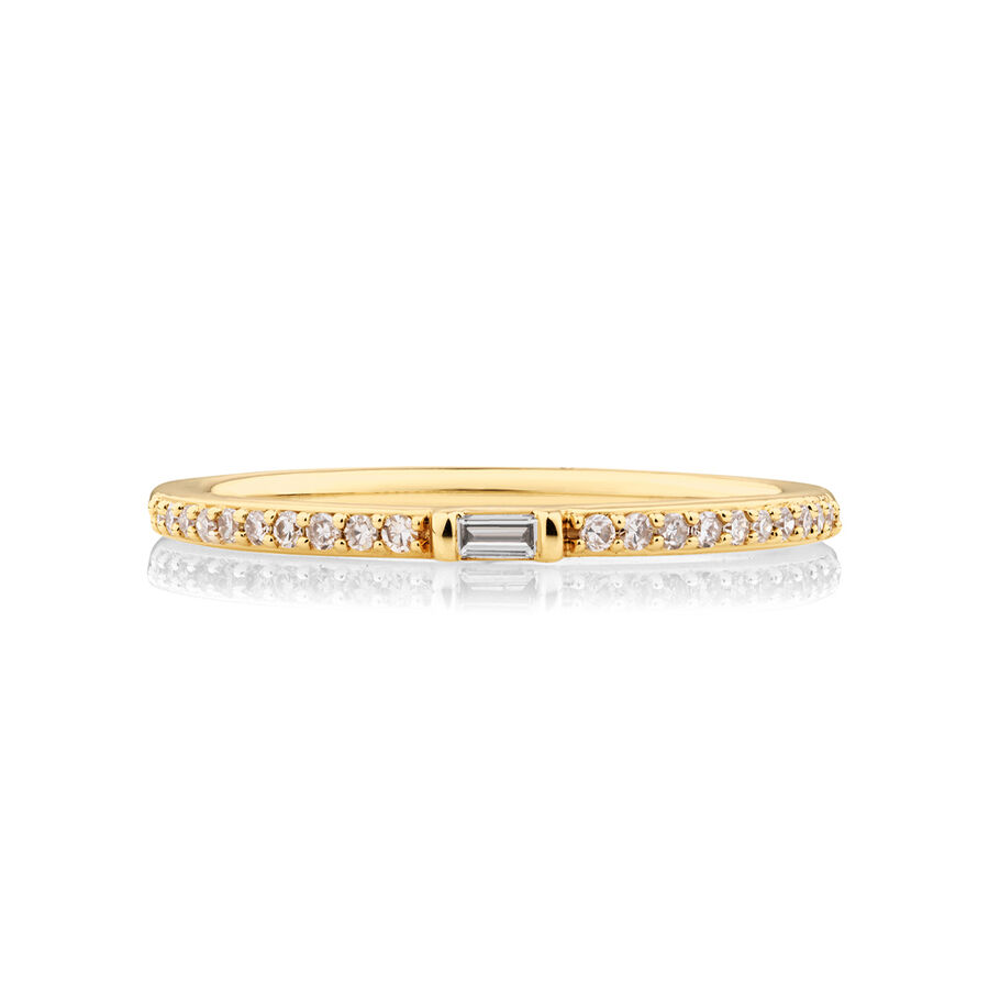 Stacker Ring with 0.12 Carat TW of Diamonds in 10kt Yellow Gold