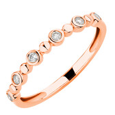 Bubble Ring with 0.12 Carat TW of Diamonds in 10kt Rose Gold