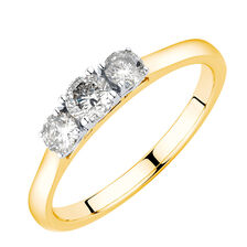 Online Exclusive - Engagement Ring with 1/2 Carat TW of Diamonds in 10kt Yellow & White Gold