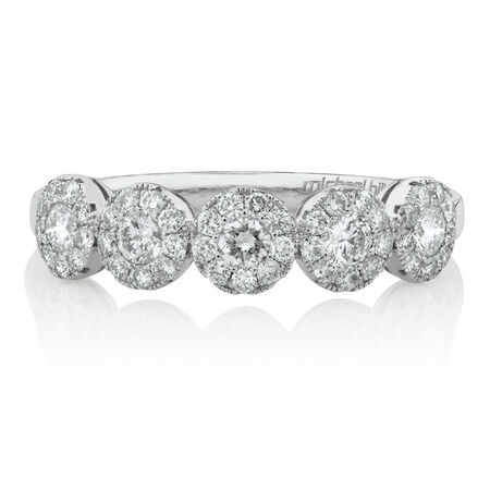 Bubble Ring with 0.64 Carat TW of Diamonds in 14kt White Gold