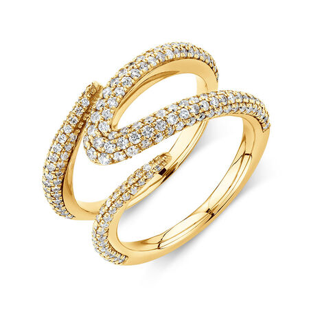 Mark Hill Ring with 1.09 Carat TW of Diamonds in 10kt Yellow Gold