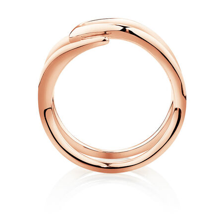Mark Hill Wide Ring in 10kt Rose Gold