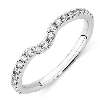 Sir Michael Hill Designer Wedding Band with 0.27 Carat TW of Diamonds in 14kt White Gold