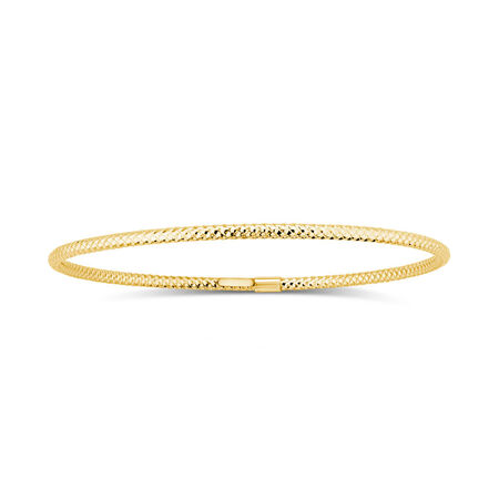 Patterned Bangle in 10kt Yellow Gold