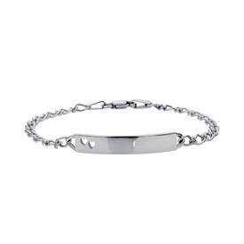 Baby Identity Bracelet in 10kt White Gold