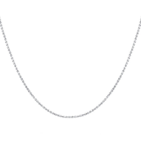 """50cm (20"""") Rope Chain in Sterling Silver"""