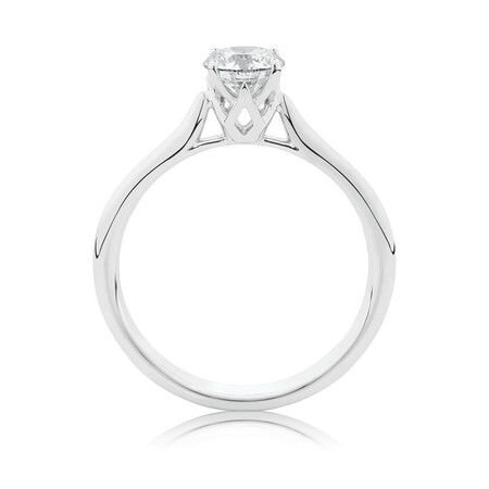 Southern Star Solitaire Engagement Ring with a 0.70 Carat TW Diamond in 14kt White Gold