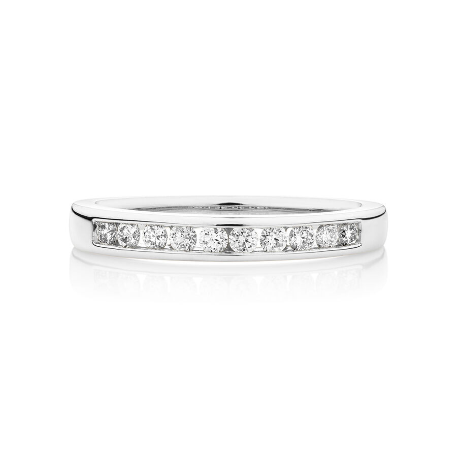 Evermore Wedding Band with 0.25 Carat TW of Diamonds in 18kt White Gold