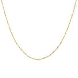 "70cm (28"") Hollow Singapore Chain in 10kt Yellow Gold"