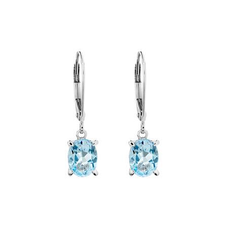 Sky Blue Topaz Earrings in Sterling Silver