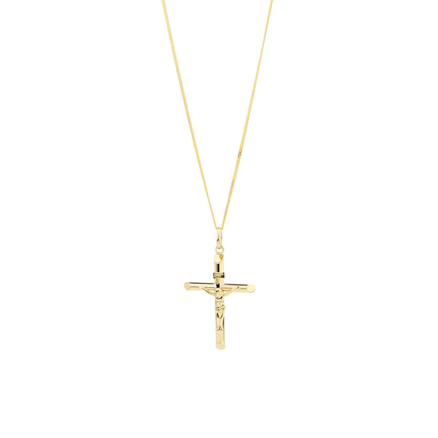 Crucifix Cross Pendant in 10kt Yellow Gold