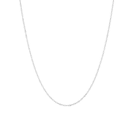 """40cm (16"""") Singapore Chain in 14kt White Gold"""